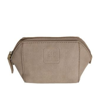 Imitation Leather Cosmetic Purse - Taupe